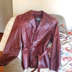 Genuine leather coat